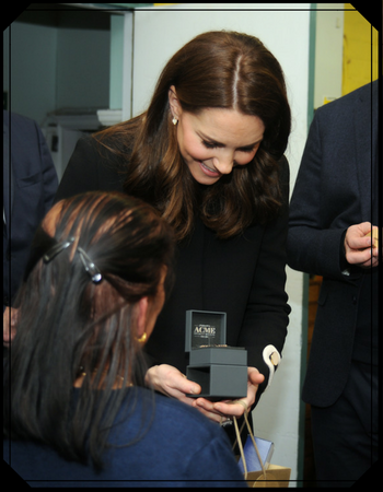 The Duchess of Cambridge visits ACME Whistles